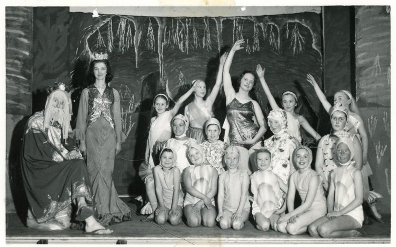 Cast of St Margaret's Players pantomime 'Robinson Crusoe'.