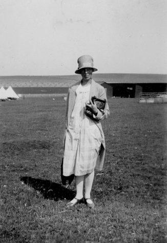 Annie Sharpe in her Sunday best at Bockhill Farm