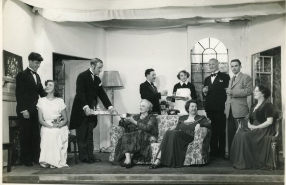 Scenes from an unidentified St Margaret's Players production. Probably 1950's