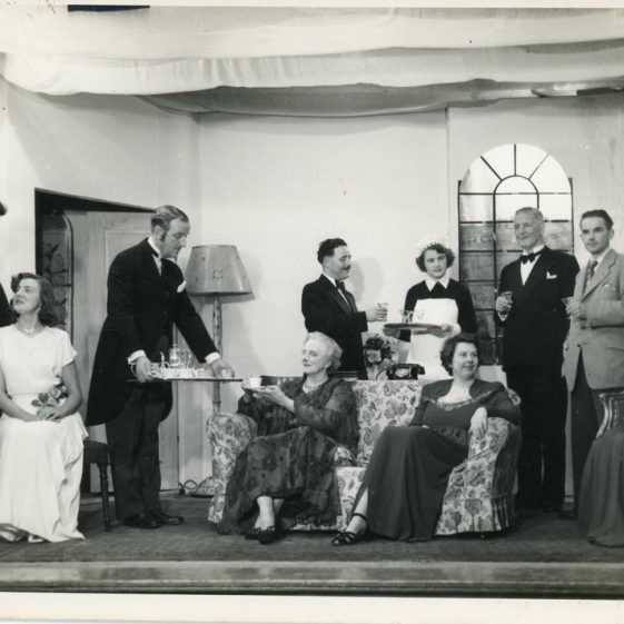 Scenes from an unidentified St Margaret's Players drama. Probably 1950's
