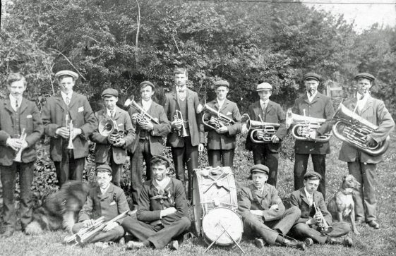 The Village Brass Band. Late 19th or early 20th Century