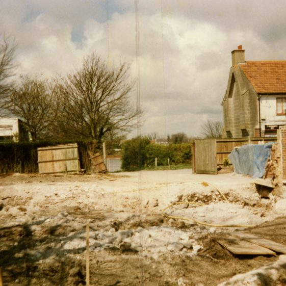 Bay Hill House, The Droveway, building work in progress. 15 April 1989