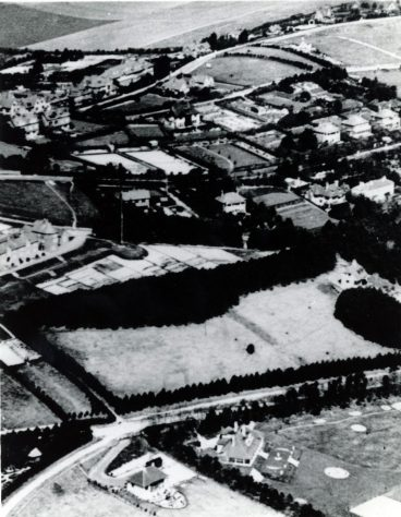 Aerial view of Foreland Road and Coastguard Cottages Bay Hill. c1920