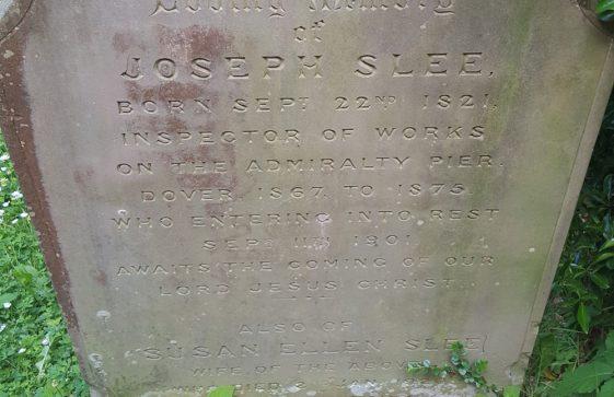 Gravestone of SLEE Joseph 1901; SLEE Susan Ellen 1920