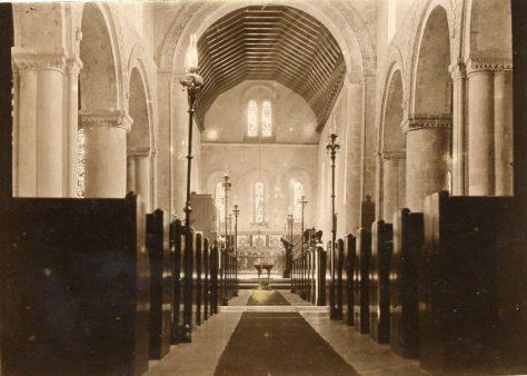 Interior of St Margaret's Church facing east. c.1901