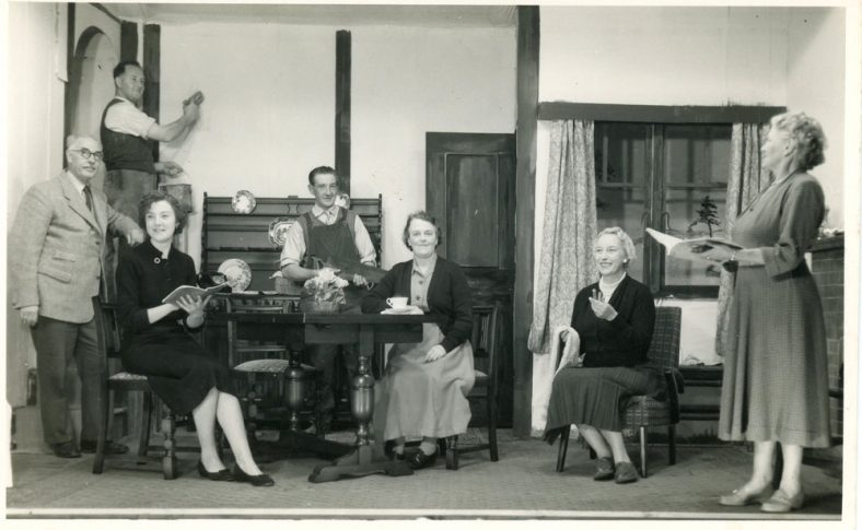 A scene from an undentified St Margaret's Players drama production. Probably 1950's