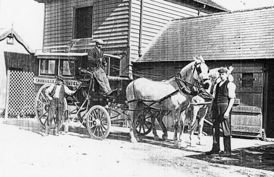 The Granville Arms Hotel, Hotel Road with coach and pair outside