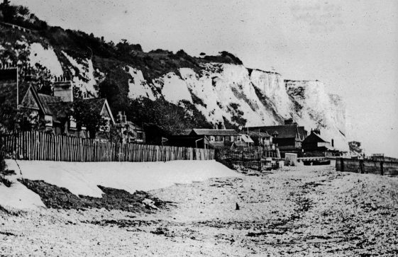 East Cliff from the beach. 9 May 1923