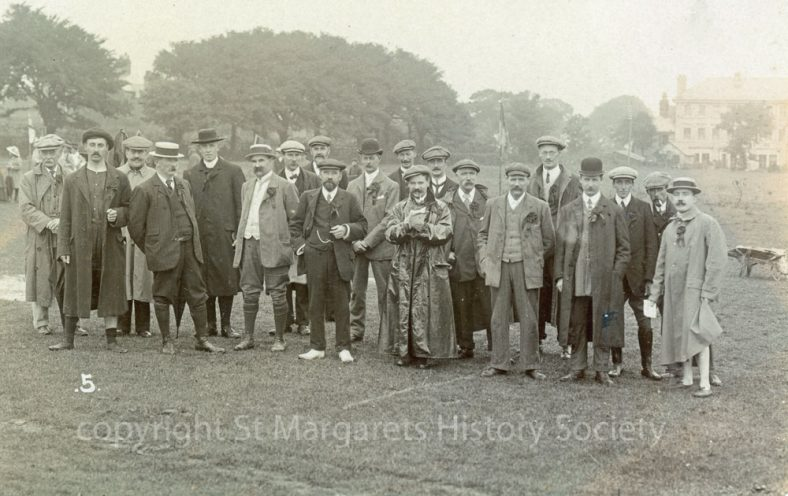 Officials at St Margaret's Sports Day. 1909