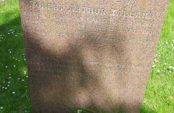 Gravestone of YALLAND Robert Arthur 1908