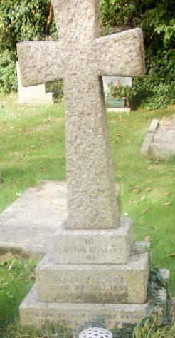 Gravestone of FIELDER Emma 1950; PETCH Frances Mary 1952