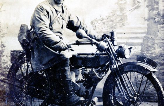 Military Motorcyclist S Hughes