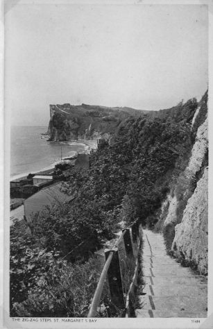Zigzag steps; The Crow's Nest at St Margaret's Bay. c1930