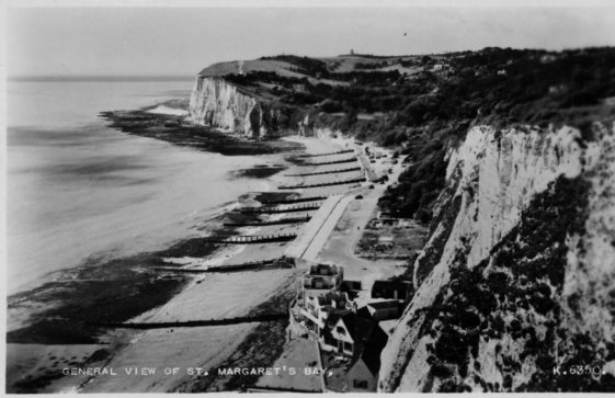 St Margaret's Bay from The Leas. postmark 1958