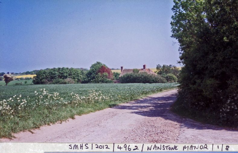 A distant view of Wanstone Farmhouse, 22 August 1999