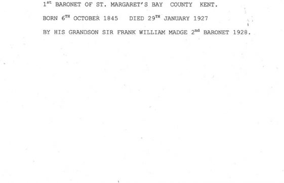 Transcript of the Inscription on the commemorative stone in Madge's Field, Bay Hill