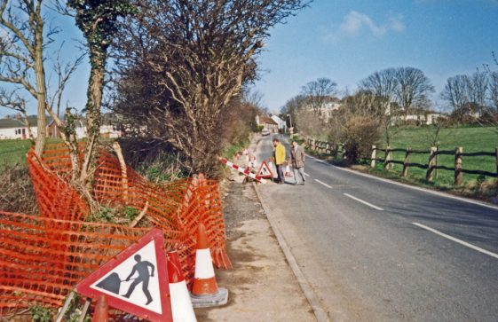 Laying fibre optic cable along Sea Street. c2000