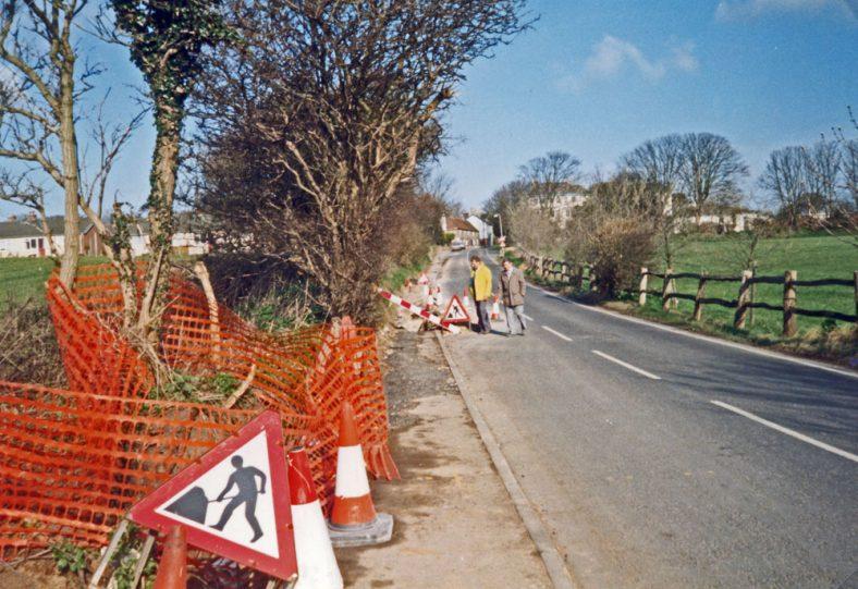 Laying fibre optic cable along Sea Street. c2000