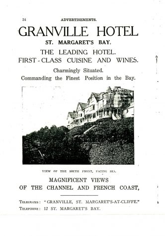 Granville Hotel, Hotel Road: Advertising 'Flyer'. undated