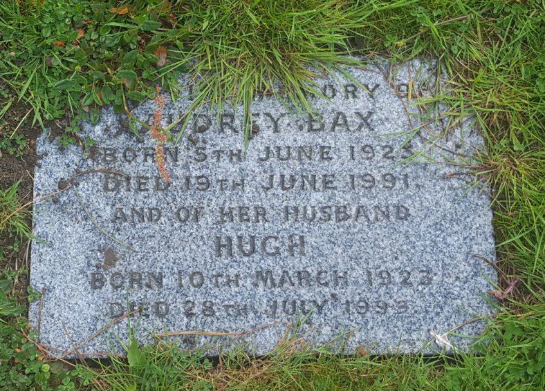 Gravestone of BAX Audrey 1991; BAX Hugh 1999 | Dawn Sedgwick