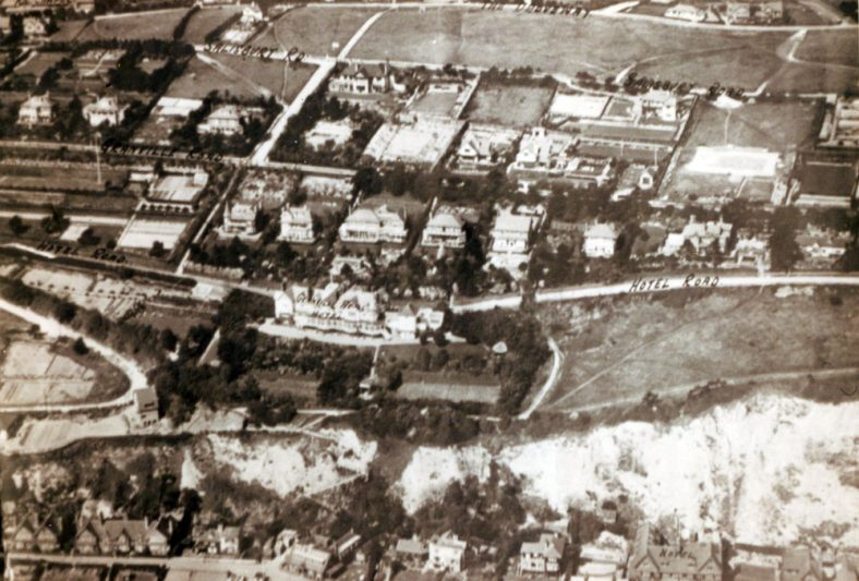 Aerial view of Granville Hotel. 1926