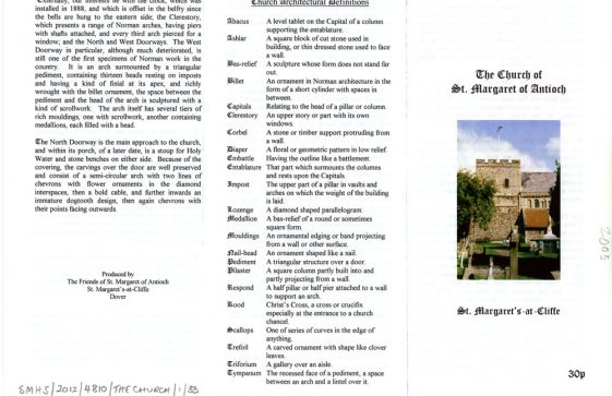Leaflet produced by The Friends of St Margaret of Antioch, 2005