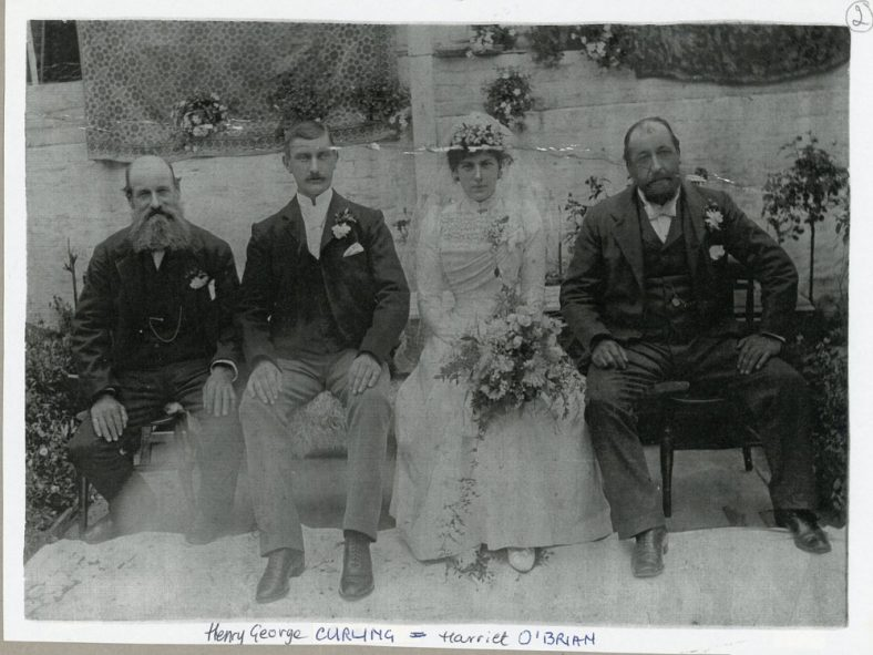 Wedding Photographs of Henry George Curling to Harriet O'Brian