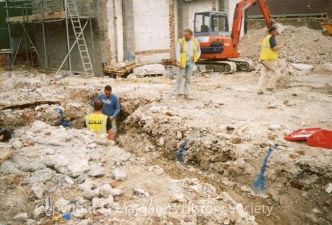 Site of the former Knoll Garage, High Street.  Spring 2004.
