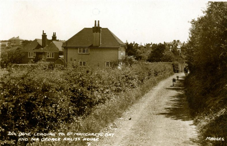 ' Lane leading to St Margaret's Bay and Mr George Arliss' House' Droveway Gardens