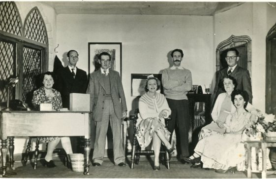 The cast of an unidentified drama by St. Margaret's Players