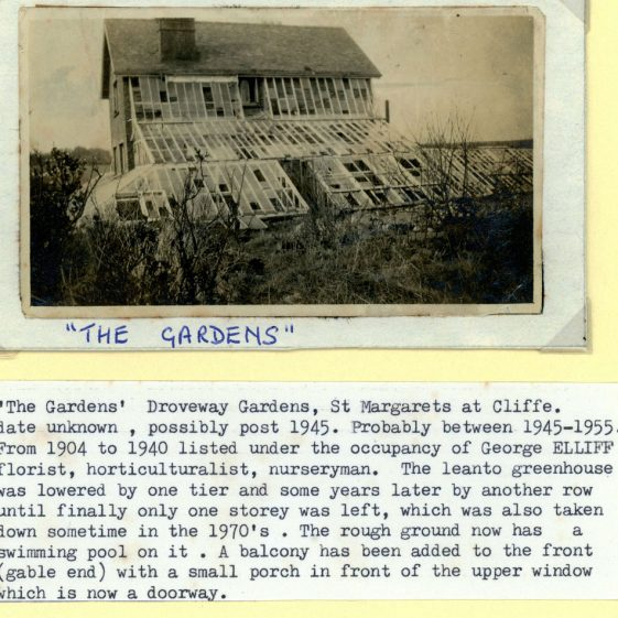 'The Gardens' in Droveway Gardens, with  a wedding group photograph. post 2nd World War