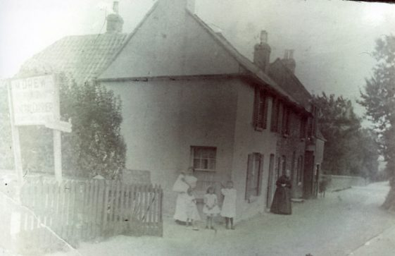 High Street Cottages next to The Hope. c1900