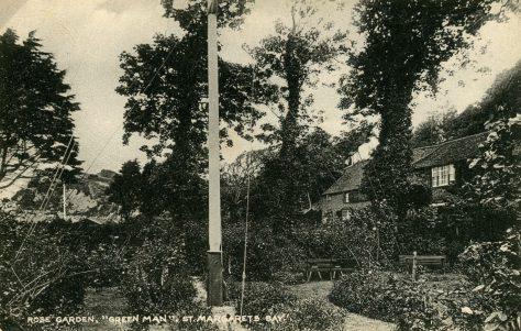 The Green Man, St Margaret's Bay, rose garden. c1920