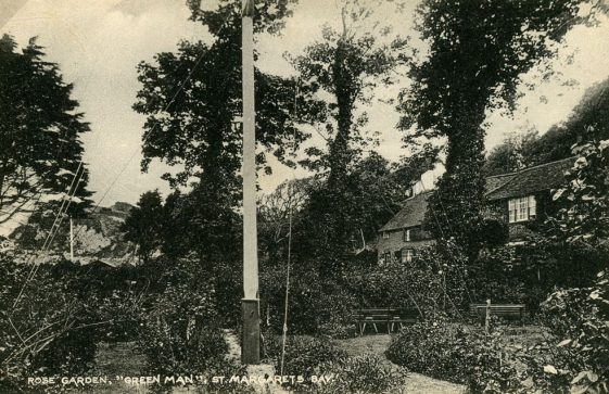 The Green Man, St Margaret's Bay, rose garden. c1920