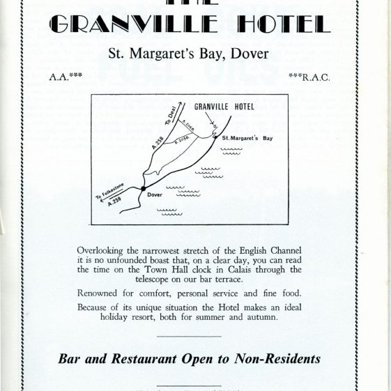 Advertisements for St Margaret's from the Dover Official Guide,1974