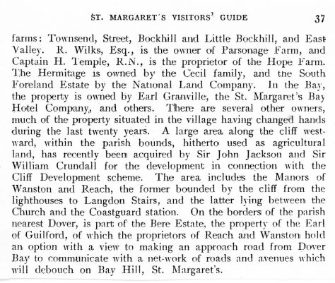 An extract from the 'St Margaret's Visitors Guide' c.1900
