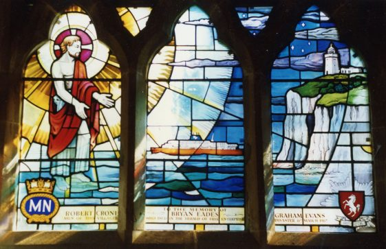 Memorial Window to Herald of Free Enterprise St Margaret's Church. 26 February 1988