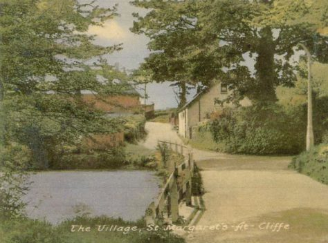 Chapel Lane from pond towards Cliffe Lodge. Undated
