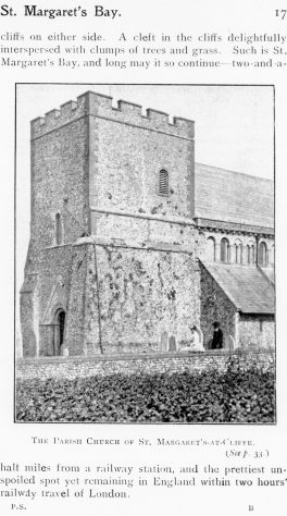 Page from a 19th century guide book showing St Margaret's Church from the south west.