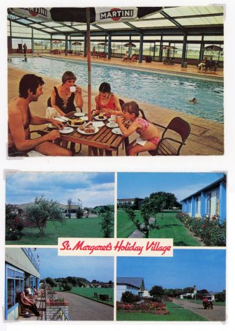 Maddisan's Holiday Camp showing the old adapted RAF buildings before redevelopment. c1984