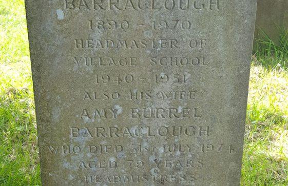 Gravestone of BARRACLOUGH Arnold Ewart 1970; BARRACLOUGH Amy Burrel 1974