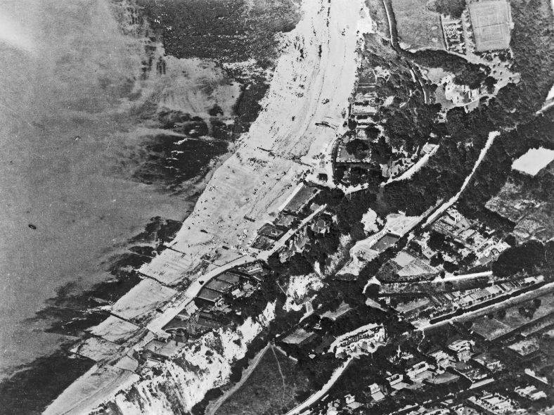 Aerial photograph of St Margaret's Bay taken between the wars
