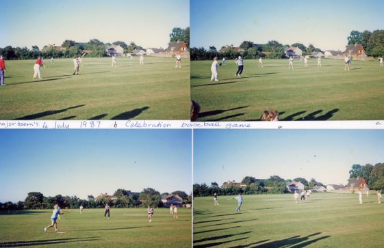 Game of basketball played between the tennis and cricket clubs. 4th July 1987