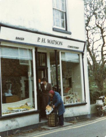 Entrance to Watson's Baker's Shop, Kingsdown Road.  1984