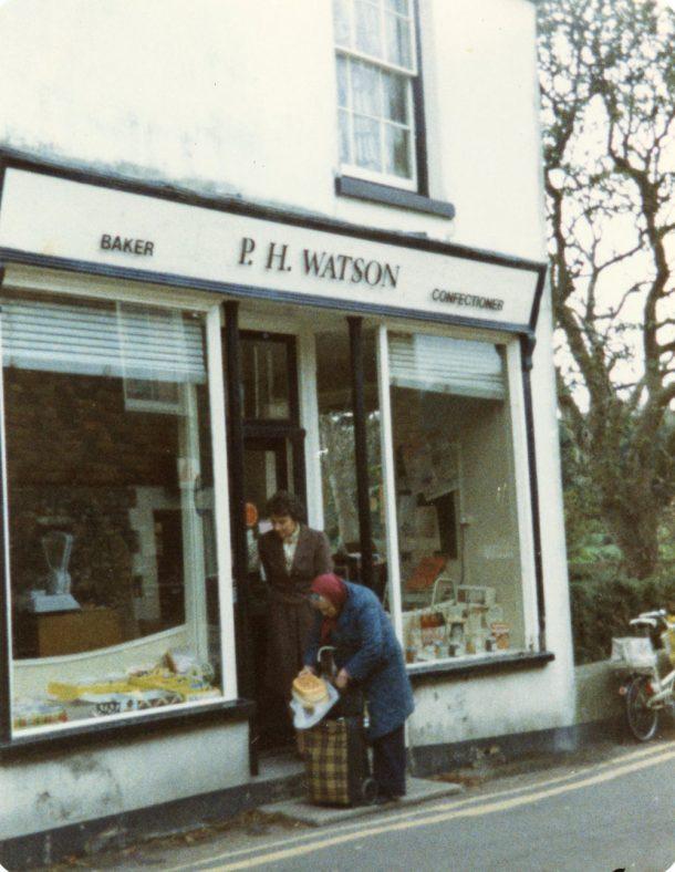 Entrance to Watson's Baker's Shop, Kingsdown Road. 1984