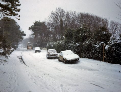 Granville Road in the snow. January 1985