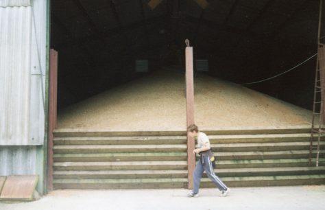 Bockhill Farm grain and bale storage. 2007