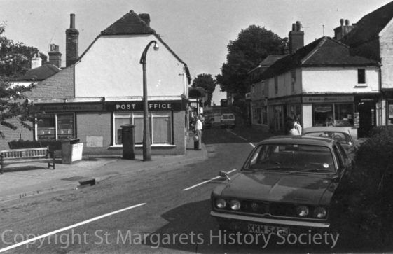 High Street with Post Office and Madge's Stores.  Early 1970s
