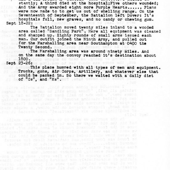 Diary of 'C' Battery US 127th AAA Gun Battery by Corporal Allan J English. 1945