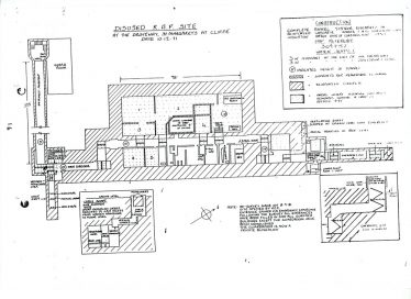 A plan drawing showing the disused underground RAF radar site at Bockhill. 1981